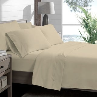 Porch & Den Lost Luxury Premium 1800 Series Ultra-Soft Collection Sheet Set (Twin XL - Sand)