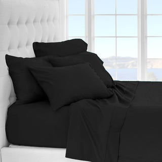 Porch & Den Lost Luxury Premium 1800 Series Ultra-Soft Collection Sheet Set (Full - Black)