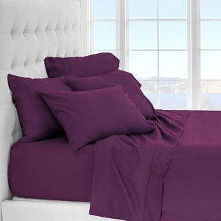 Porch & Den Lost Luxury Premium 1800 Series Ultra-Soft Collection Sheet Set (Twin XL - Plum)