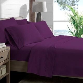 Porch & Den Lost Luxury Premium 1800 Series Ultra-Soft Collection Sheet Set (California King - Plum)