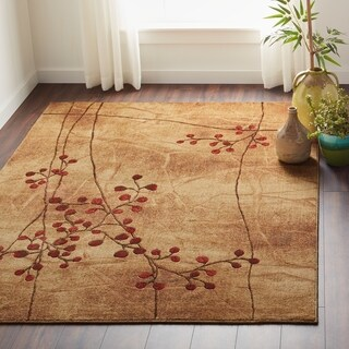 Copper Grove Uwharrie Red Floral Area Rug