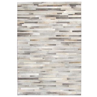Strick & Bolton Sam Hand-stitched Cowhide Rug - 8' x 10'