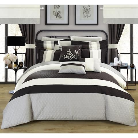 Copper Grove Norreskoven Black 24-piece Bed in a Bag with Sheet Set