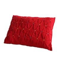 Fiesta Decorative Throw Pillow- Embroidered Dot
