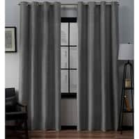 Porch & Den Sugar Creek Grommet Top Loha Linen Window Curtain Panel Pair