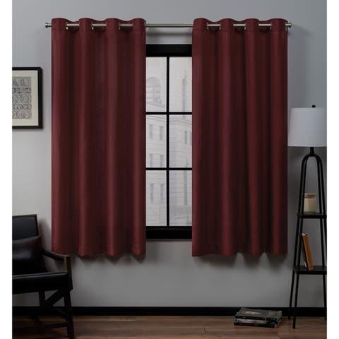 Porch & Den Sugar Creek Grommet Top Loha Linen Window Curtain Panel Pair