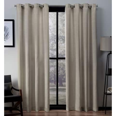Copper Grove Ashclyst Faux Silk Grommet Top Window Curtain Panel Pair - N/ A