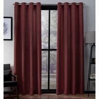 Copper Grove Ashclyst Faux Silk Grommet Top Window Curtain Panel Pair - N/ A