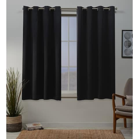Porch & Den Boosalis Sateen Twill Weave Insulated Blackout Window Curtain Panel Pair