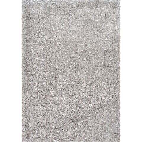 Taylor & Olive Dooley Solid Baby Pink Shag Area Rug