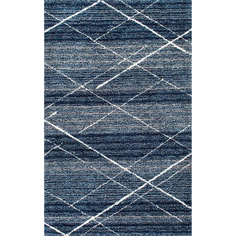 Porch & Den Clement Handmade Diamond Trellis Shag Rug