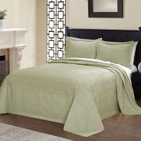 Copper Grove Salamonie Vibrant Solid-colored Microfiber Quilted French Tile Bedspread