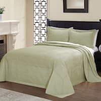 Copper Grove Salamonie Vibrant Solid-colored Microfiber and Cotton Quilted French Tile Bedspread
