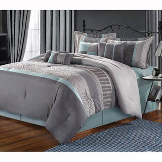 Link to Copper Grove Minesing Embroidered 8-piece Comforter Set Similar Items in Comforter Sets