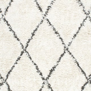 Porch & Den Sutter Hand-knotted Wool Shag Rug (Natural - 8 x 10)