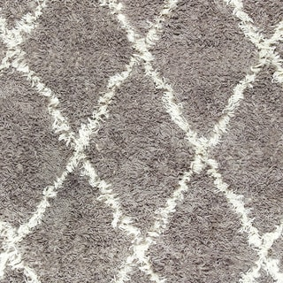 Porch & Den Sutter Hand-knotted Wool Shag Rug (grey - 2 8 x 10 Runner)