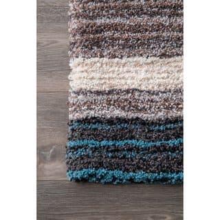 Strick Bolton Lawrie Handmade Striped Plush Rug