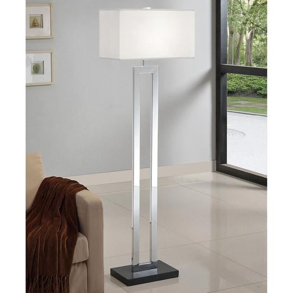 Strick & Bolton Spero 60-inch Chrome/ Black Contrast Floor Lamp
