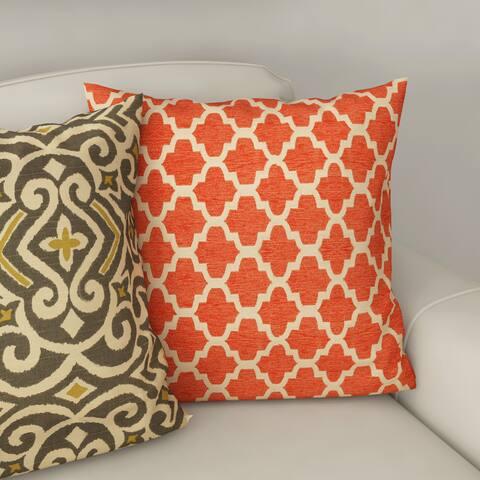 Porch & Den Kent Trails Orange Throw Pillow