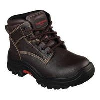 Women's Skechers Work Burgin Krabok Steel Toe Boot Brown