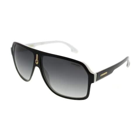 Carrera Aviator Carrera 1001/S 80S 9O Unisex Black White Frame Grey Gradient Lens Sunglasses