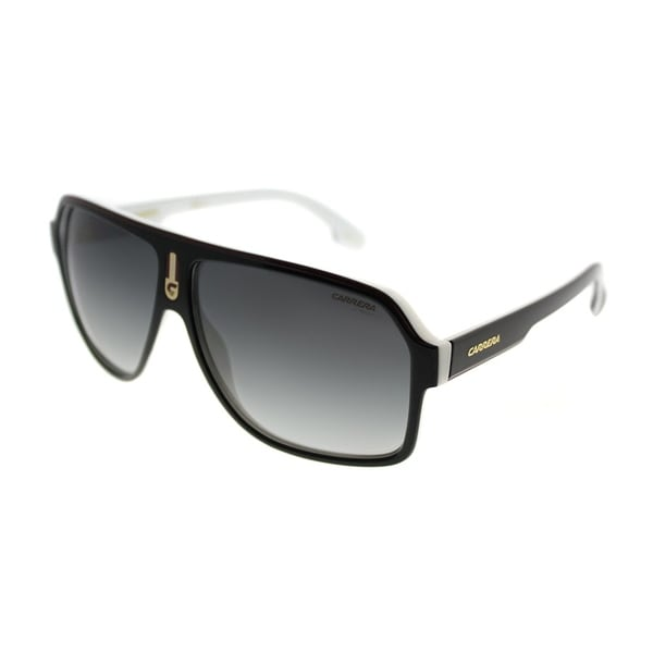 0f5b292c5861c Carrera Aviator Carrera 1001 S 80S 9O Unisex Black White Frame Grey  Gradient Lens Sunglasses
