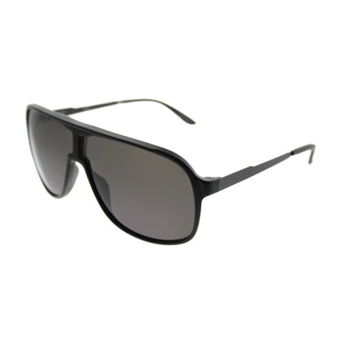 Carrera Aviator New Safari/S GTN Unisex Matte Black Frame Grey Lens Sunglasses