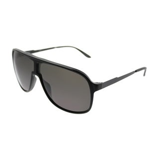 Carrera Aviator New Safari/S GTN Unisex Matte Black Frame Grey Lens Sunglasses