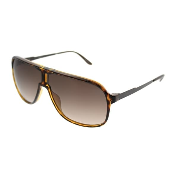 Carrera Aviator New Safari/S KME Unisex Havana Brown Frame Brown Gradient Lens Sunglasses