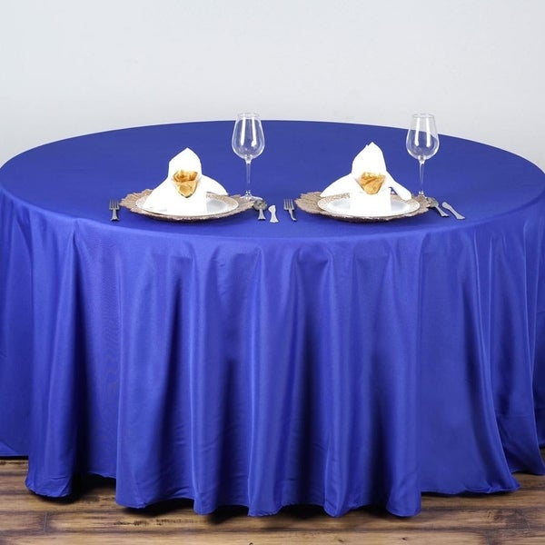 90 Round Polyester Tablecloth Wedding Party Royal Blue