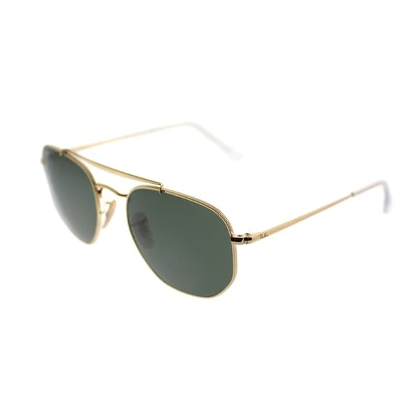 fba024a046 Ray-Ban Square RB 3648 The Marshall 001 Unisex Gold Frame Green Lens  Sunglasses