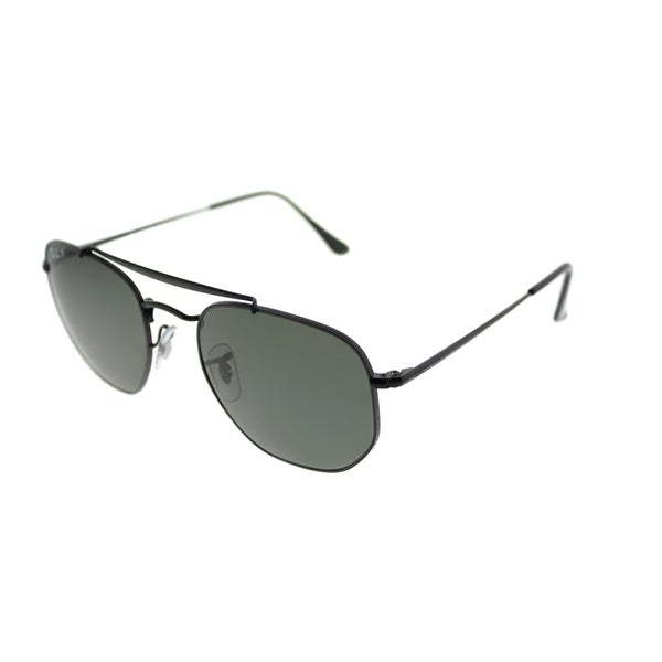 8a6762bef26 Ray-Ban Square RB 3648 The Marshall 002 58 Unisex Black Frame Green  Polarized