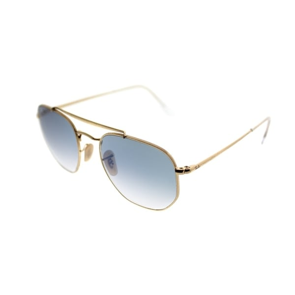 b3649e2b4b Ray-Ban Square RB 3648 The Marshall 001 3F Unisex Gold Frame Blue Gradient