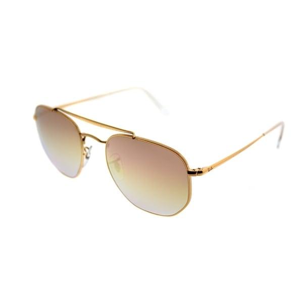45161480650 Ray-Ban Square RB 3648 The Marshall 9001I1 Unisex Bronze Frame Orange Lens  Sunglasses