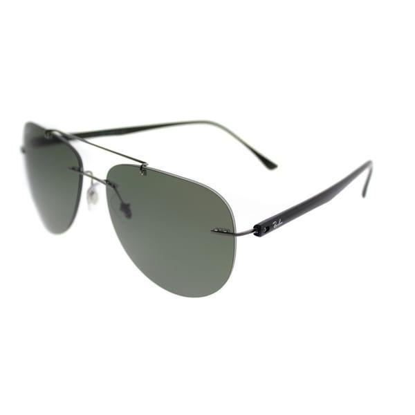 f50ed7493 Ray-Ban Aviator RB 8059 004/9A Unisex Gunmetal Frame Green Polarized Lens  Sunglasses