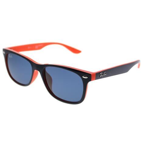f9c03cc599 Ray-Ban Junior Wayfarer RJ 9052SF Asian Fit 178 80 Kids Blue on Orange