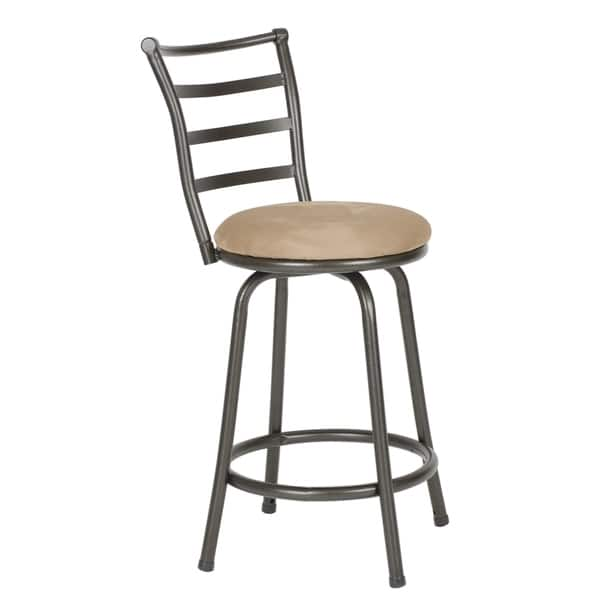 Sensational Shop Round Seat Adjustable Swivel Bar Counter Height Stools Caraccident5 Cool Chair Designs And Ideas Caraccident5Info