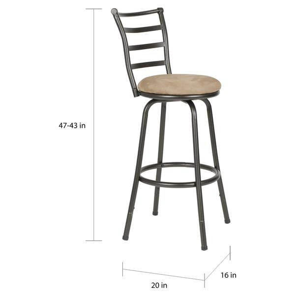 Superb Shop Round Seat Adjustable Swivel Bar Counter Height Stools Pabps2019 Chair Design Images Pabps2019Com