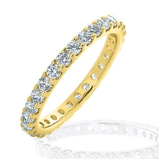 Amore 10KT Yellow Gold 1CT TDW Stackable Diamond Eternity Ring