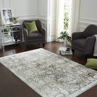 Copper Grove Indravati Distressed Traditional Floral Area Rug - 8' x 10'