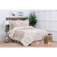 Sandy Shells Cotton Quilt Set