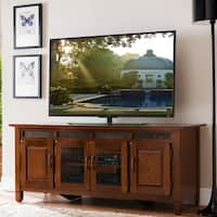Rustic Oak Wood/ Slate Tile 60 Inch TV Stand