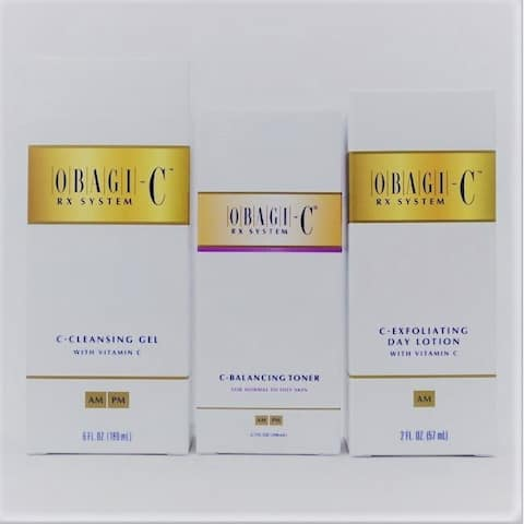 Obagi Rx System C-Cleansing Gel, C-Toner & C-Exfoliating Day Lotion