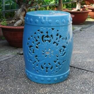 Isfahani Ceramic Ceramic Garden Stool (3 options available)