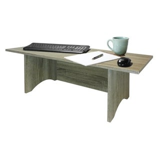 Miracle Desk Stand Up Desk - Convert your desk to a stand up desk - Rustic Grey Oak