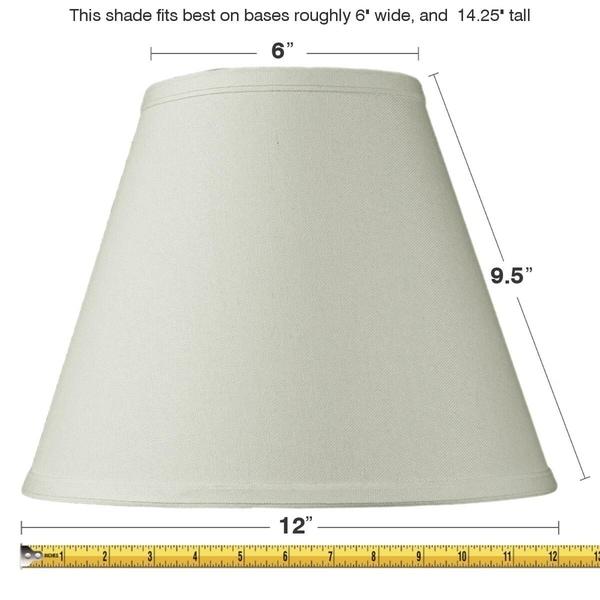 6x12x9 Slip Uno Fitter Light Oatmeal Empire Hardback Lampshade