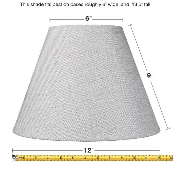 6x12x9 Slip Uno Fitter Hard Back Empire Lamp Shade - Khaki Burlap