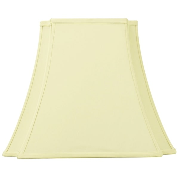9x16x13 Eggshell with Off-White Liner Lampshade