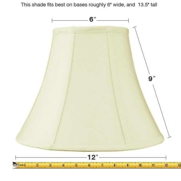 6x12x9.5 Slip Uno Fitter Egg Shell Shantung Bell Lampshade
