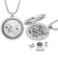 Piatella Ladies Alloy Magnetic Locket Pendant Adorned with Swarovski Elements Crystals in 2 Colors